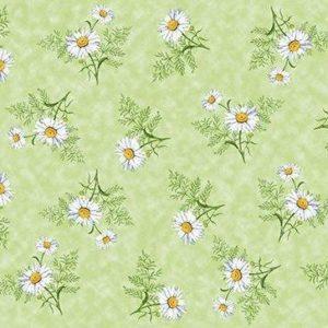 Vaxduk Blommor - Grön