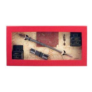 Kalligrafiset Manuscript - Pewter Penholder & Nib Set