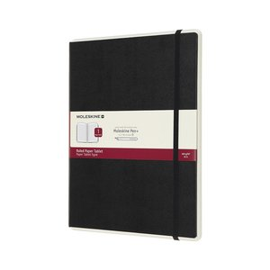 Papertablet P+ Large Linjerad - Svart