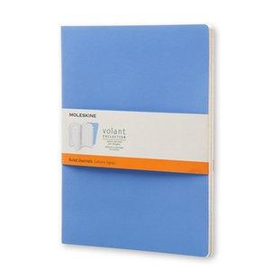 Volant Journal Linjerad XL Soft cover - Puderblå/Kungsblå