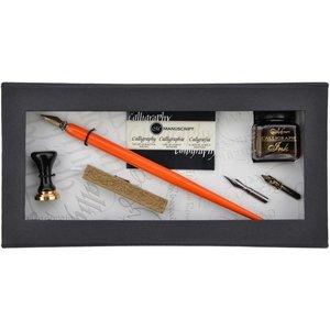 Kalligrafiset Manuscript - Pen & Mini Seal Set