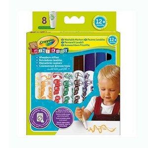 Tvättbara pennor Crayola Minikids - 8 pennor
