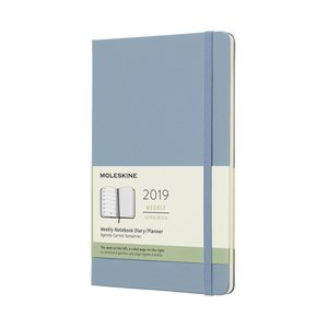 Dagskalender 2019 Hard back Cinder blå - Large