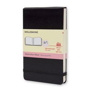 Watercolour Notebook Pocket Slät Hard back - Svart