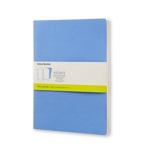 Volant Journal Rutad XL Soft cover - Puderblå/Kungsblå
