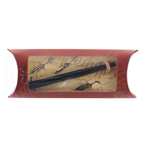 Kalligrafiset Manuscript - Pen & Ass. Nib Set In Pouch