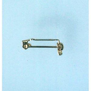 Broschnålar 21 mm - guldpläterade 100 st.