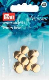 Kreativ Dekor rund påstrykes 10mm guldfärg 18 st