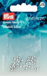 Kreativ Dekor rund påstrykes 3mm silverfärg 30 st