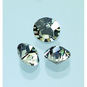 Billigtpyssel.se | Ädelstenar Swarovski ø 3-5 mm - svart diamant