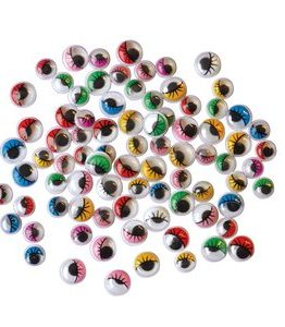 Billigtpyssel.se | Ögon med frans 230 st färg