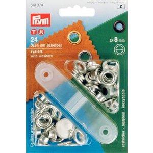 Billigtpyssel.se | Öljetter mässing - silverfärgade  4-14mm (fler olika produktval)
