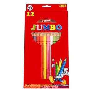 Färgpennor Jumbo Sense - 12 pennor