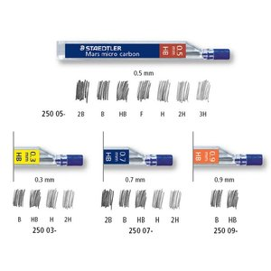 Mars micro stift 250 (11 olika varianter)