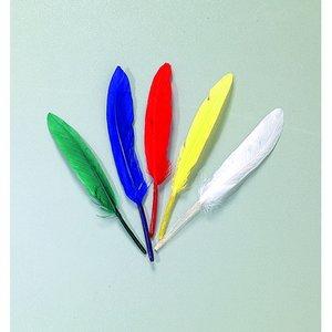 Indianfjädrar 12 - 15 cm - flera färger blandade 20-pack