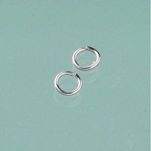 Ringögla ø 6 mm - silverfärgad 20-pack runda