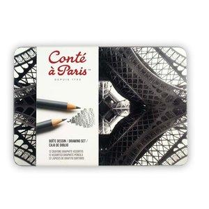 "Skisspennor ""Drawing"" Conté á Paris - 12 Pennor"