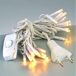Ljusslinga LED + knapp linjär 220 V - vit 20 lampor vit