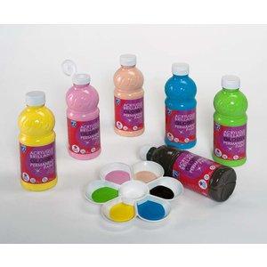 Skolfärger L&B Akrylfärg Glossy 250 ml - 6 Färger