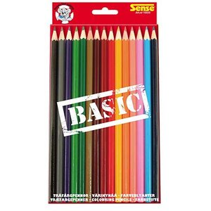 Färgpennor Basic Sense - 15 pennor