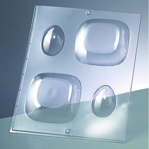Billigtpyssel.se | 3-D Gjutform för tvål 90 x 90 mm / 60 x - kvadrat / 2 delar