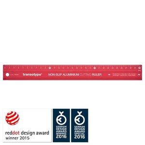 Aluminiumlinjal - Röd