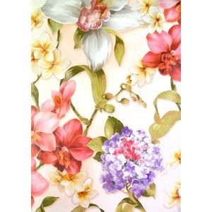 Vaxduk blommor