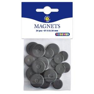 Runda magneter (15-20 mm) flera valmöjligheter