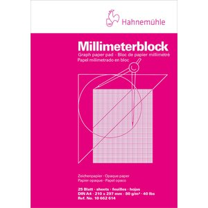 Millimeterblock Hahnemühle 80g