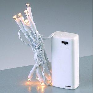 Ljusslinga LED 70 cm - vit 10 lampor varmt ljus batteri