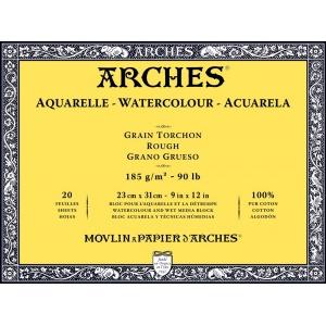 Akvarellblock Grov gräng Arches 185g