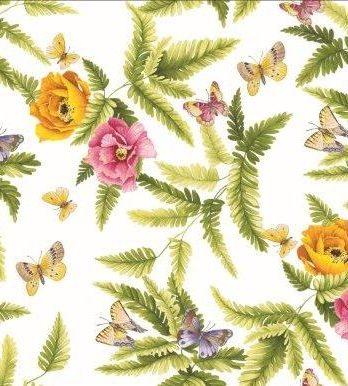 Vaxduk Blommor Fjärilar