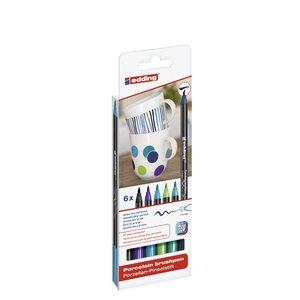 Edding 4200 Porslinpenna - Kalla Färger