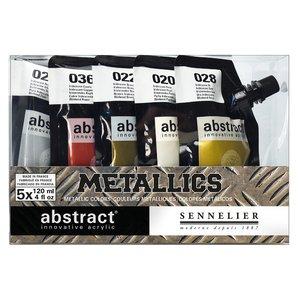 Akrylfärgset Sennelier Abstract - Metallics set 5 x 120ml