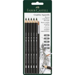 Akvarellpennset Faber-Castell - 5 Pennor + Pensel