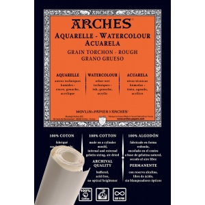 Akvarellpapper Grov gräng Rulle Arches 356g - 9 m - 130cm bredd