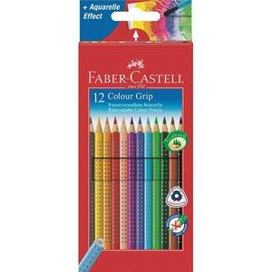 Akvarellpennor Faber-Castell Colour Grip 2001 - 12 Pennor