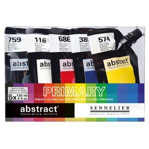 Billigtpyssel.se | Akrylfärgset Sennelier Abstract - Intro set 5 x 120ml