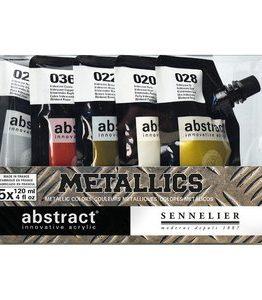 Billigtpyssel.se | Akrylfärgset Sennelier Abstract - Metallics set 5 x 120ml