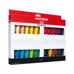 Billigtpyssel.se | Akrylfärgsset Amsterdam 20 ml - 24 tuber