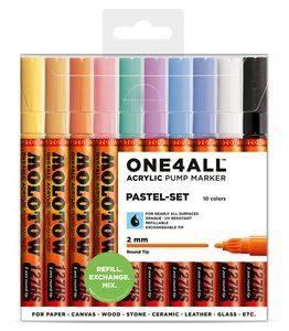 Billigtpyssel.se | Akrylmarker One4All 2mm 10 Pennor - Pastel
