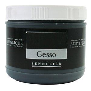 Billigtpyssel.se   Akrylmedium Sennelier 500 Ml - Black Gesso