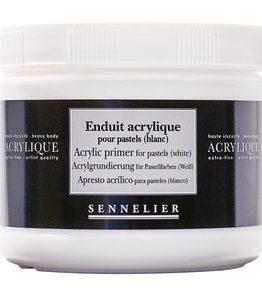 Billigtpyssel.se | Akrylmedium Sennelier 500Ml - Acrylic Primer For Pastels (White)