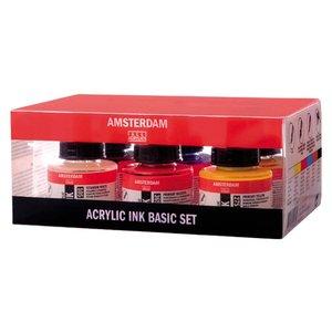 Billigtpyssel.se | Akryltusch Amsterdam 30 ml - 6 färger