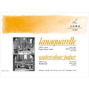 Billigtpyssel.se | Akvarellblock Lana Lanaquarelle 300 Varmpressat Slät Gräng