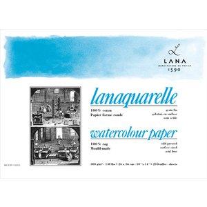 Billigtpyssel.se | Akvarellblock Lana Lanaquarelle 300g Kallpressat Medium Gräng