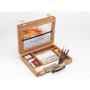 Billigtpyssel.se   Akvarellfärg W&N Professional Trälåda ½koppar 12 st