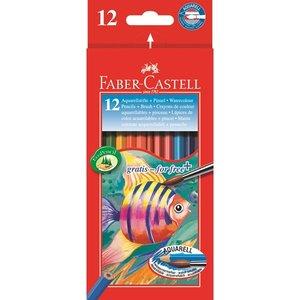 Billigtpyssel.se | Akvarellpennset Faber-Castell Redline - 12 Pennor