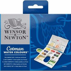 Billigtpyssel.se   Akvarellset Cotman Compact - 14 st ½-koppar