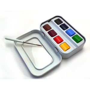 Billigtpyssel.se | Akvarellset Sennelier - 8 x 1/2-kopp